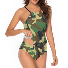 Women's Camouflage Swimsuit with Stomach Covered