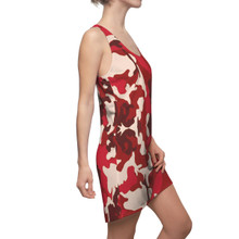 Ladies Red Camouflage Dress