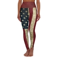 American Flag Workout Leggings High Waist