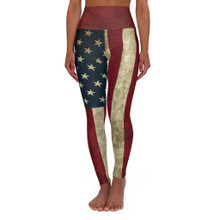 American Flag Workout Leggings High Waist