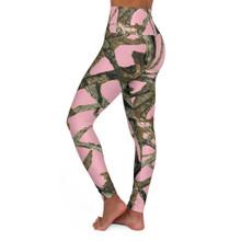Pink Camo Leggings High Waist