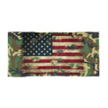 American Flag Army Camouflage beach towel