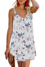 Floral Summer Dress White Tank Cami Straps