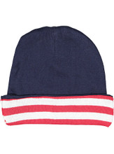 Red White Blue Baby Hat Beanie Patriotic