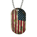 Camouflage American Flag dog Tags