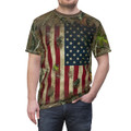 Mens Patriotic Camo American Flag Shirt