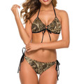 Marsh Reed Camouflage Bikini For Women
