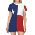 Texas Flag T Shirt Dress
