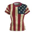Women's Patriotic Flag Shirt
