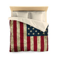 American Flag Duvet Cover Queen Bed