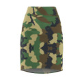 Women's Army Camouflage Pencil Skirt