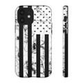 Black American Flag Phone Case iPhone Samsung