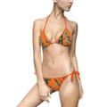 Orange Camouflage Bikini Top and Bottom Set