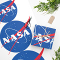NASA Snowman Wrapping Paper with Logo