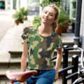Woodlands Army Camouflage Crop Top Tee