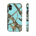 Teal Camouflage Phone Cover