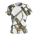 Ladies All Over Print White Camouflage Shirt With Hunting Pattern