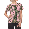 Women's Pink Camouflage Shirt With Hunting Pattern