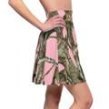 Pink Camouflage Women's Skater Skirt