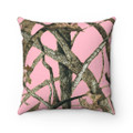 Pink Camouflage Pillow Square