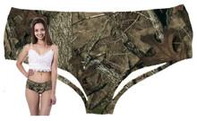 Wholesale Women's Boy Short Panties Hunting Camo