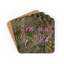 The Hunt Is Over Wedding Coasters
