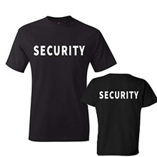 Security T Shirt Front and Back Print
