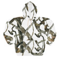White Camouflage Hoodie Snow Hunting Pattern