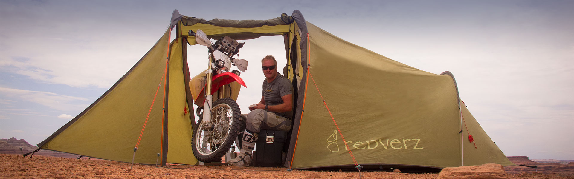 Redverz Gear's Original Mototent, Motorcycle Campingand motorcycle tents