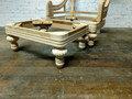 XS UPHOLSTERY UNFINISHED / RAW CARVED OTTOMAN FRAME
