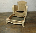 STANFORD FURNITURE UNFINISHED / RAW RATTAN ACCENT CHAIR & OTTOMAN FRAME
