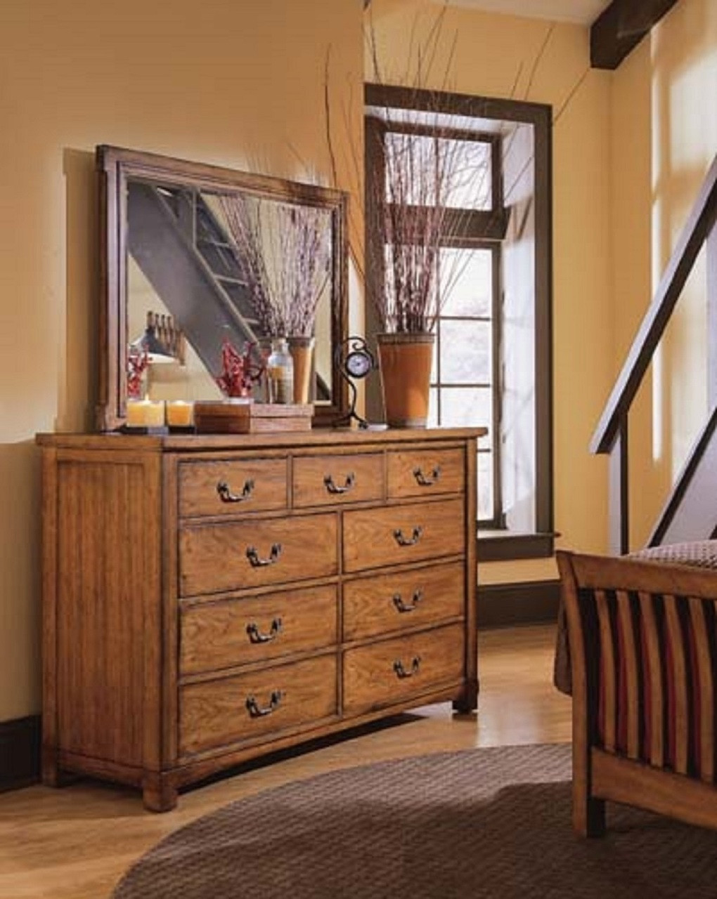 American Drew Furniture Beacon Ridge Collection Landscape Mirror
