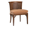 BELLE MEADE SIGNATURE FURNITURE WHITAKER WOVEN CANE ACCENT CHAIR