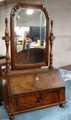CENTURY FURNITURE MONARCH COLLECTION BURL WOOD VANITY MIRROR