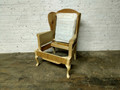 XS UPHOLSTERY FURNITURE UNFINISHED QUEEN ANNE WING CHAIR FRAME