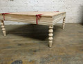 BELLE MEADE SIGNATURE FURNITURE UNFINISHED / RAW SUFFOLK COCKTAIL OTTOMAN FRAME