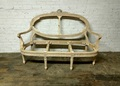 VANGUARD FURNITURE UNFINISHED / RAW CARVED OVAL BACK SETTEE FRAME