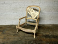XS UPHOLSTERY UNFINISHED / RAW PALM LEAF CHAIR FRAME