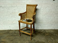 XS UPHOLSTERY UNFINISHED / RAW CARVED BARSTOOL FRAME WITH CANE