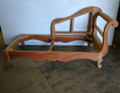 XS UPHOLSTERY UNFINISHED / RAW CARVED CHAISE FRAME WITH RIGHT ARM FACING