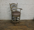XS UPHOLSTERY LADDER BACK SWIVEL BARSTOOL