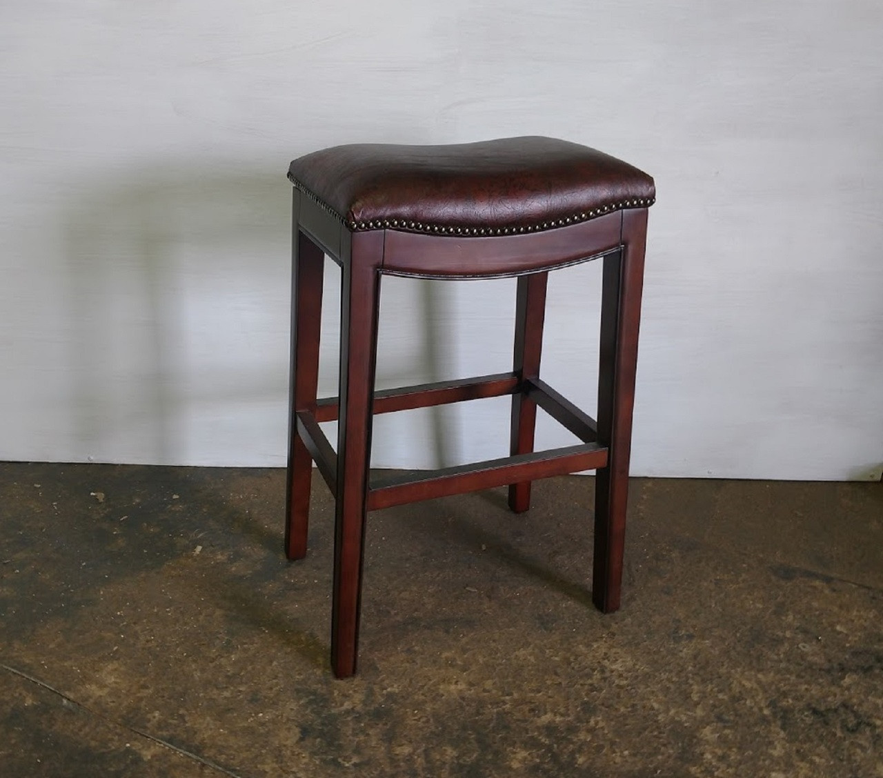 Remarkable Xs Upholstery Embossed Leather Counter Stools Set Of 3 Squirreltailoven Fun Painted Chair Ideas Images Squirreltailovenorg