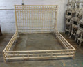 VANGUARD FURNITURE UNFINISHED / RAW  RATTAN BED IN KING