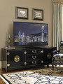 SLIGH FURNITURE STUDIO DESIGNS PACIFIC ISLES MEDIA CONSOLE IN STUDIO BLACK