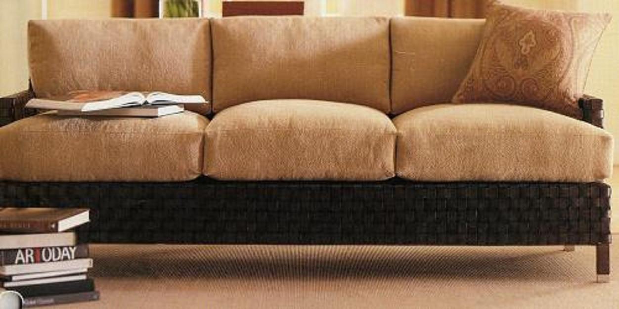 Lexington Furniture Nautica Hardwin Leather Strap Sofa