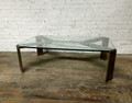 VANGUARD FURNITURE SATIN BRASS FAIRFAX COCKTAIL TABLE BY THOM FILICIA