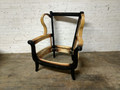 VANGUARD FURNITURE ROSETTE WING CHAIR FRAME FINISHED IN ANTIQUE BLACK
