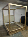 VANGUARD FURNITURE THOM FILICIA  UNFINISHED / RAW POSTER BED IN CALIFORNIA KING
