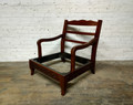 XS UPHOLSTERY CARVED ELEPHANT CHAIR FRAME FINISHED IN BROWN CHERRY