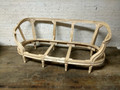 VANGUARD FURNITURE UNFINISHED / RAW CARVED CURVED SOFA / SETTEE FRAME